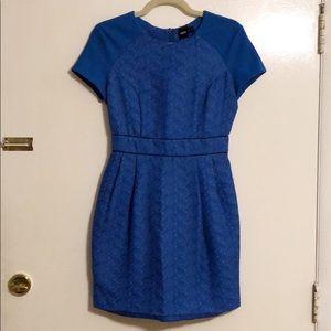 ASOS Cobalt Blue Jacquard Pencil Dress